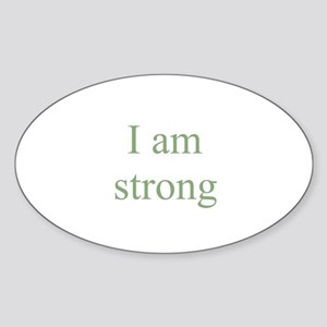 I am strong Oval Sticker