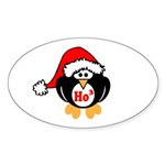 Ho Ho Ho Sticker (Oval 10 pk)