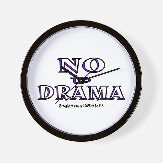 NO TO DRAMA Wall Clock