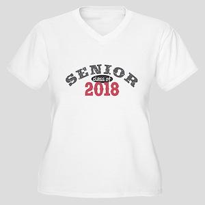 Senior Class of 2018 Women's Plus Size V-Neck T-Sh