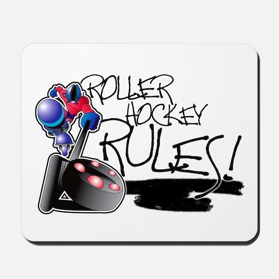 Roller Hockey Rules! Mousepad