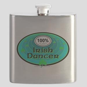 100 PERCENT IRISH DANCER Flask