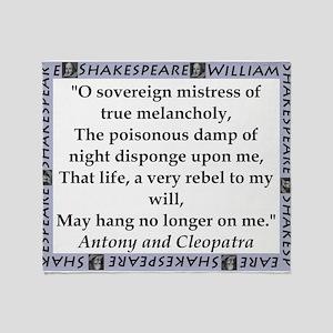 O Soveriegn Mistress Throw Blanket