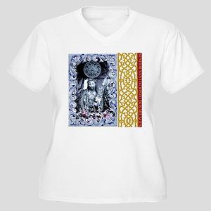 SANTO CRISTO Women's Plus Size V-Neck T-Shirt