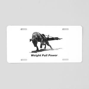 Pitbull Weight Pull Power Aluminum License Plate