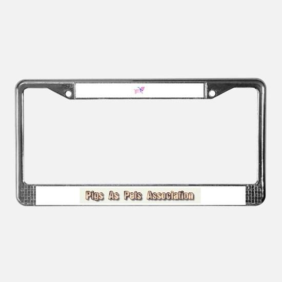 Unique Pig sanctuary License Plate Frame