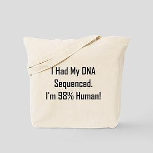 I'm 98% Human! Tote Bag