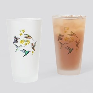 HUMMINGBIRDS AND TRUMPET PLANT Drinking Glass