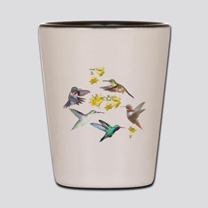 HUMMINGBIRDS AND TRUMPET PLANT Shot Glass