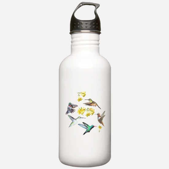 HUMMINGBIRDS AND TRUMPET PLANT Water Bottle