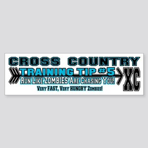Cross Country Zombie Training Sticker (Bumper)