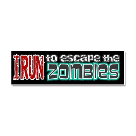 Run to Escape Zombies Car Magnet 10 x 3