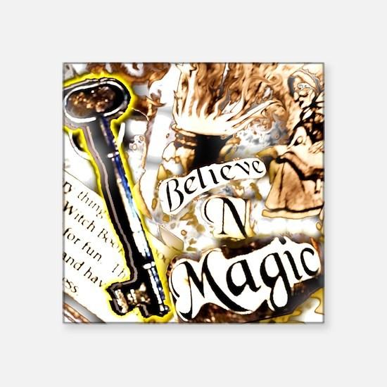 """Believe in Magic (a) Square Sticker 3"""" x 3&qu"""