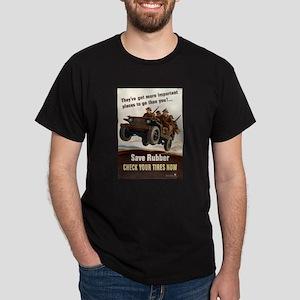 SAVE RUBBER Black T-Shirt