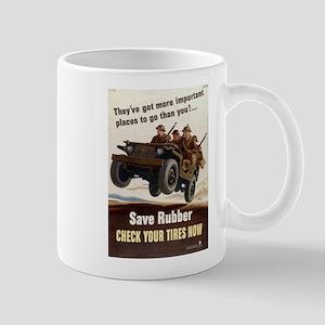 SAVE RUBBER Mug
