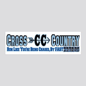 Cross Country Zombies Chasing 20x6 Wall Decal