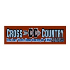 Cross Country Zombies Chasing Wall Decal