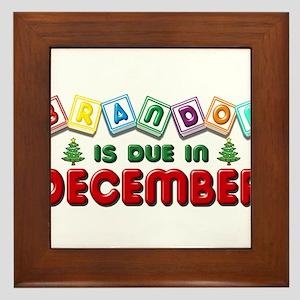 Brandon is Due in December Framed Tile