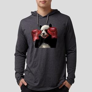 Boxing panda  Mens Hooded Shirt
