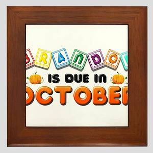 Brandon is Due in October Framed Tile