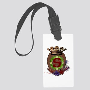S initial crest Large Luggage Tag