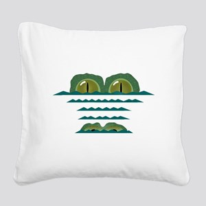 Big Croc Square Canvas Pillow