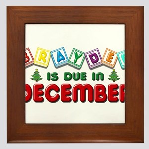Brayden is Due in December Framed Tile