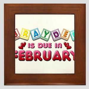Brayden is Due in February Framed Tile