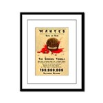 Cannibal Tribble Wanted Poster Framed Panel Print