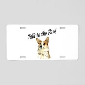Talk to the Paw! Little Dott Aluminum License Plat