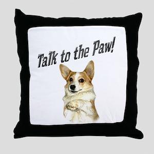 Talk to the Paw! Little Dott Throw Pillow