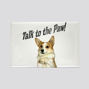 Talk to the Paw! Little Dott Rectangle Magnet
