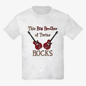 Big Bro Rocks Twins Kids Light T-Shirt