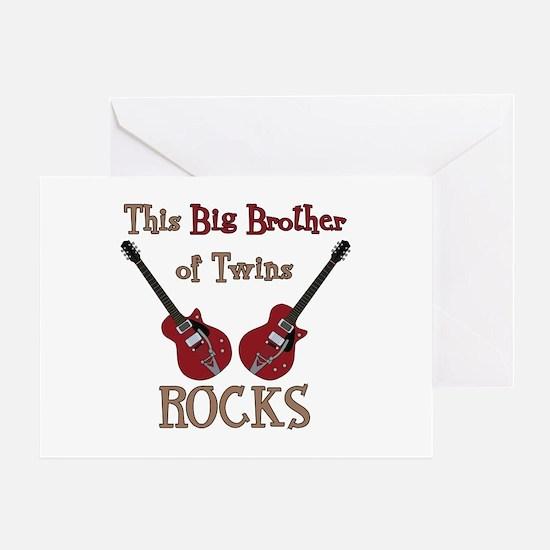 Big Bro Rocks Twins Greeting Card