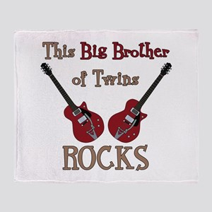 Big Bro Rocks Twins Throw Blanket