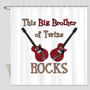 Big Bro Rocks Twins Shower Curtain