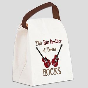 Big Bro Rocks Twins Canvas Lunch Bag