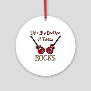 Big Bro Rocks Twins Ornament (Round)
