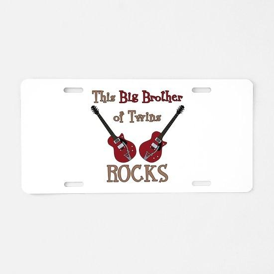 Big Bro Rocks Twins Aluminum License Plate
