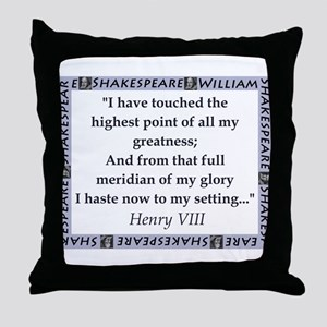 I Have Touched The Highest Point Throw Pillow