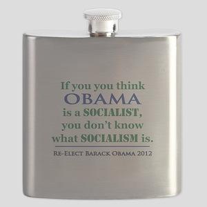 Obama Is No Socialist Flask