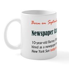 Mug: Newspaper Carrier Day 10-year-old Barney Flah