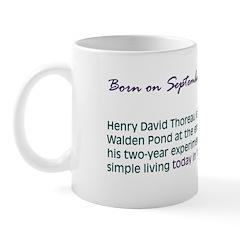 Mug: Henry David Thoreau left Walden Pond at the e