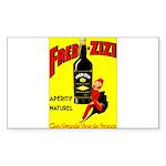 Fred-Zizi Aperitif Sticker (Rectangle 50 pk)
