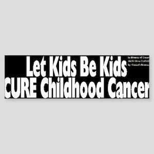 Childhood Cancer Bumper Sticker