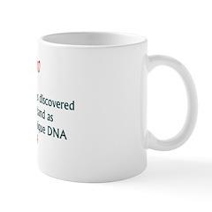 Mug: DNA fingerprinting was discovered by Alec Jef