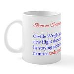 Mug: Orville Wright set a new flight duration reco