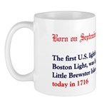 Mug: First U.S. lighthouse, Boston Light, was ligh