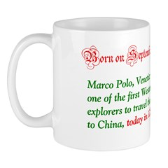 Mug: Marco Polo, Venetian trader and one of the fi