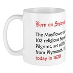 Mug: Mayflower carrying 102 religious Separatists,